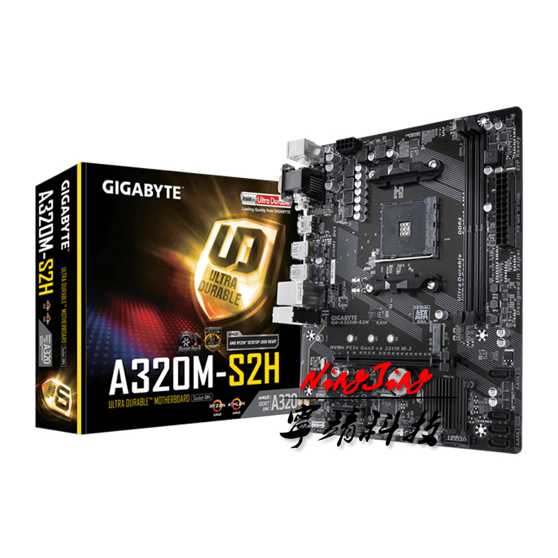 Gigabyte GA A320M S2H Micro ATX AMD A320 DDR4 M.2 USB3.1 STAT3.0 SSD/New/32G Best support R9 desktop CPU Socket AM4 Motherboard|Motherboards| - AliExpress