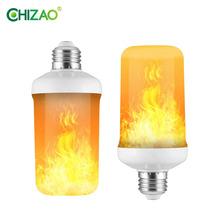 CHIZAO LED Dynamic flame effect light bulb Multiple mode Creative corn lamp Decorative lights For bar hotel restaurant party E27 cheap CN(Origin) 2700K Flame-bulbs 2835 Garden 85-266V 500 - 999 Lumens 30000 hours 40-162mm LED Bulbs 3years Corn Bulb Other