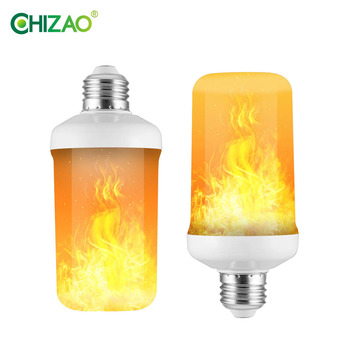 CHIZAO LED Dynamic flame effect light bulb Multiple mode Creative corn lamp Decorative lights For bar hotel restaurant party E27