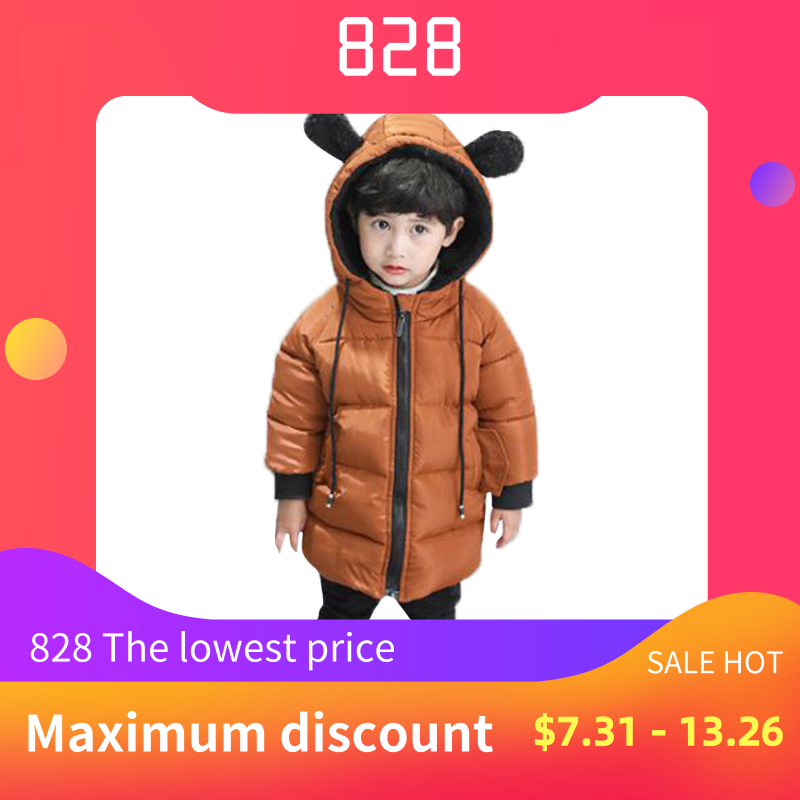 MUQGEW Jacket Boy Winter Cloak Coat Outerwear Infantil Baby-Girl Kids Thick Hooded Roupa-De-Frio