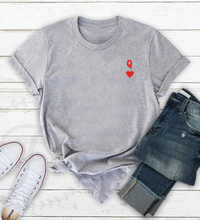 TShirt Plus Size T Shirt Women Shirts Graphic Tees Vintage Tshirt Streetwear T-shirt Queen and Heart XS-3XL Grey