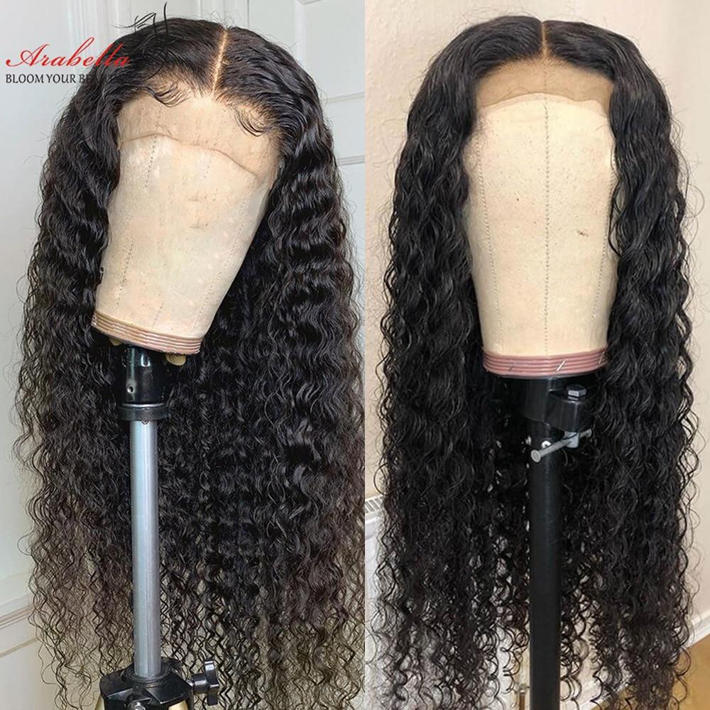 Perruque Lace Closure Wig Remy brésilienne Deep Wave-Arabella   Cheveux 100% naturels, 4*4 6*6, avec Baby Hair, densité 180