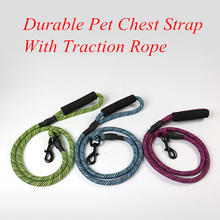 Durable Nylon Leash Foam Pet Rope Training Lead Dog Cats Dogs Harness Collar Strap