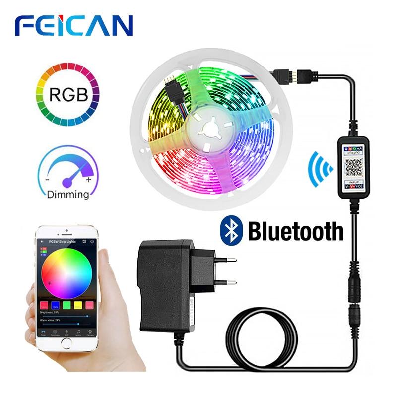 LED Strip 2835 RGB 5M Full Set Bluetooth Control LED Light Strip Backlight 12V RGB Tape Ambilight Ribbon