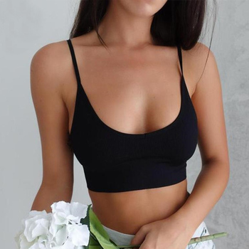 Solid Color Sexy Tank Crop Tops Women Fashion Basic Top Streetwear Sleeveless Camis Cool Girls Cropped Tee Camisole Femme