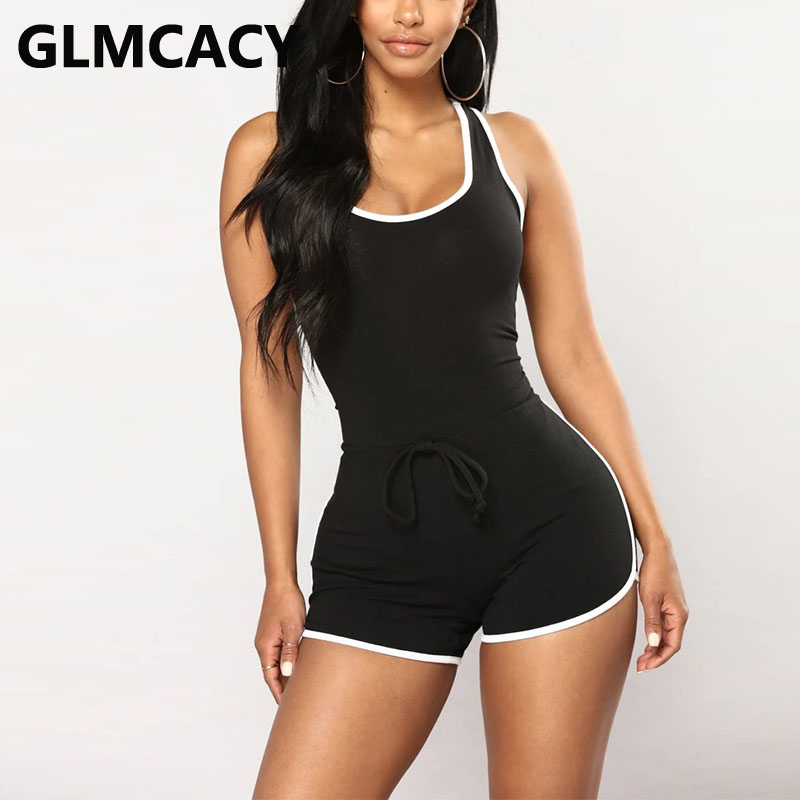 Women Casual Bodysuit Rompers Fitness Romper Bandage Sports Clubwear Playsuit Bodycon Party Jumpsuit Trousers Shorts