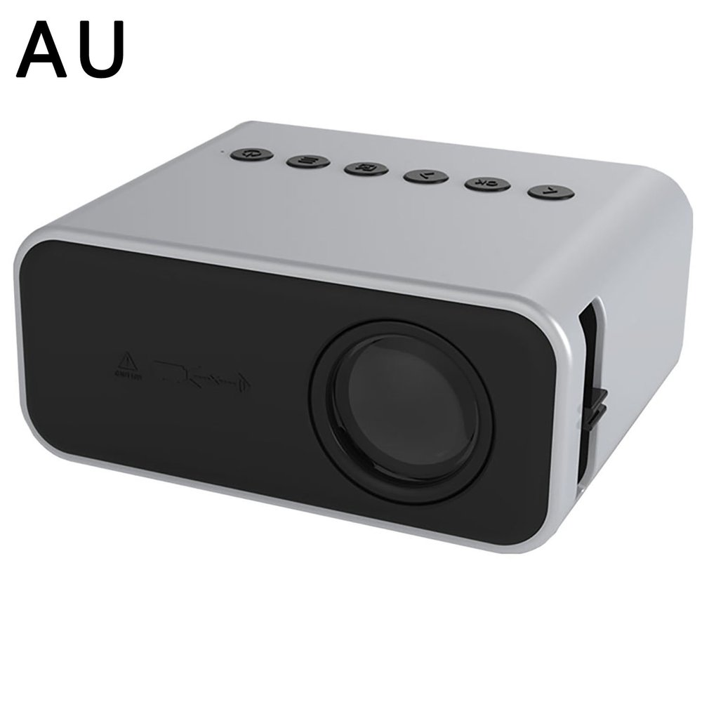 YT500 Projector With Wired Same Screen High-speed Picture Speaker Portable LED Projector Home Media Video Player white