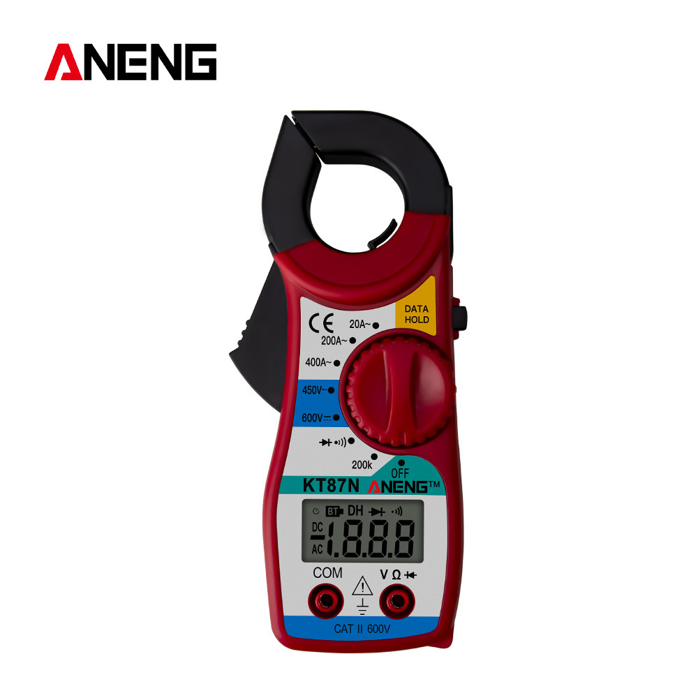 KT87N ЖК-дисплей цифровой клещи переменного тока AC / DC Вольтметр Амперметр электрические клещи переменного тока/постоянного тока Напряжение т...