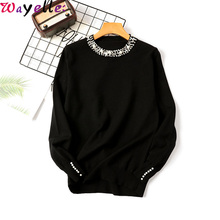 Women Sweater Korean Style Autumn Winter Pullovers Sweater for Women 2019  O-neck Long Sleeve Chic Knitted Sweater Female Jumper