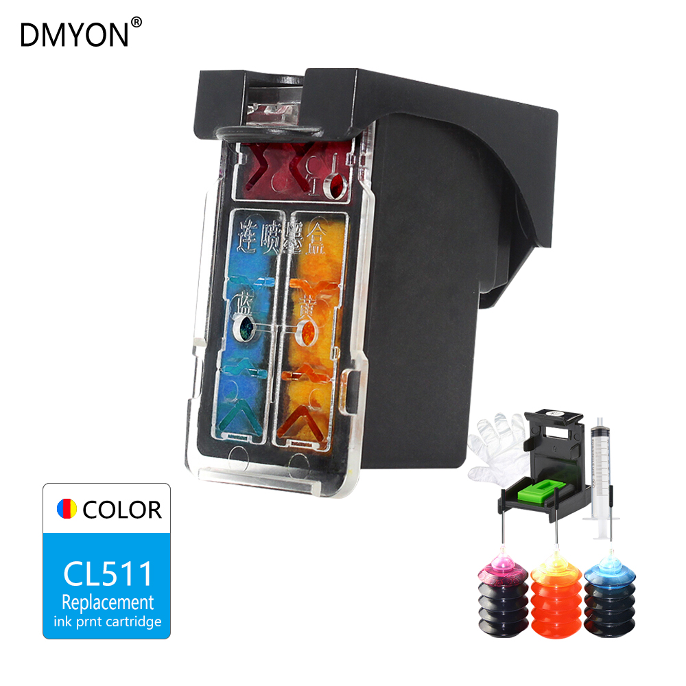 CL 511 For Canon PG-510 CL-511 Refillable Ink Cartridge iP2700 MP250 MP240 MP490 MP495 MX330 MX340 MX350 MX410