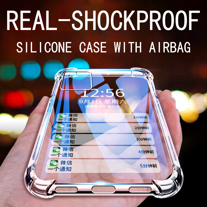 Luxury Shockproof Silicone Transparent Phone Case For iPhone 7 12 MINI 11 Pro MAX X XR XS MAX 6 7 8 Plus SE 2020 Back Cover Case