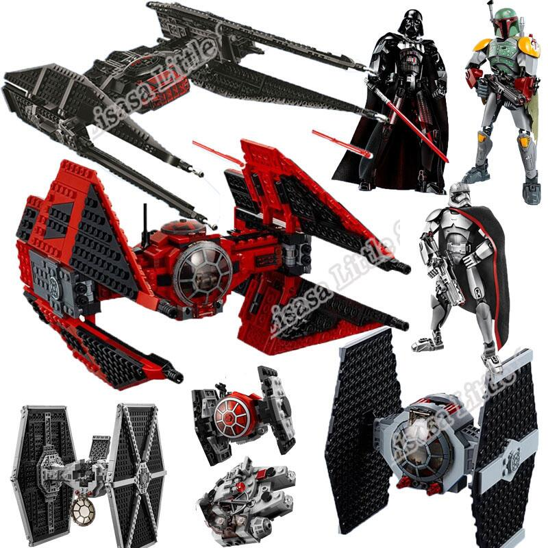 New 2019 Star Wars Red Tie Fighter AT-TE Walker Building Blocks Brick Toys For Children With 75240 75242