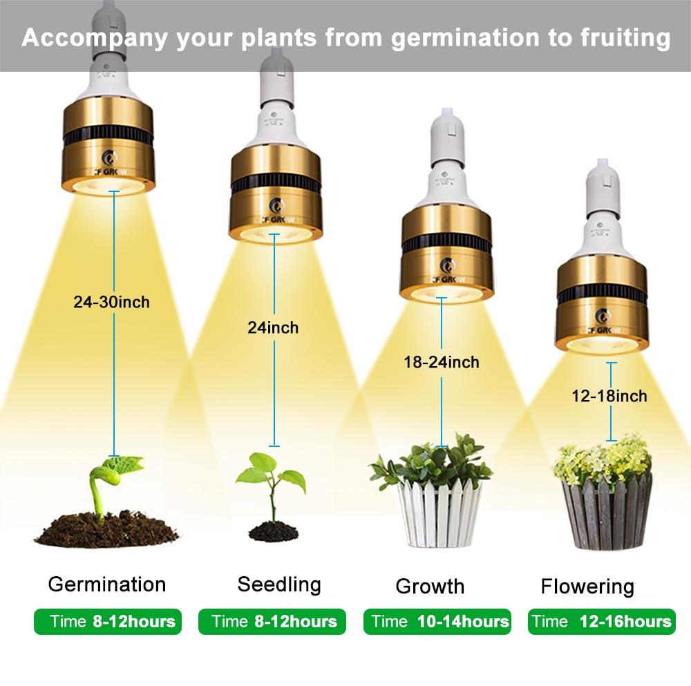 Image 5 - LED Grow Light Bulb Full Spectrum 120W 150W 300W Sunlike COB LED Plant Grow Lamp for Indoor Plant Greenhouse Veg Bloom FloweringGrowing Lamp Bulbs   -