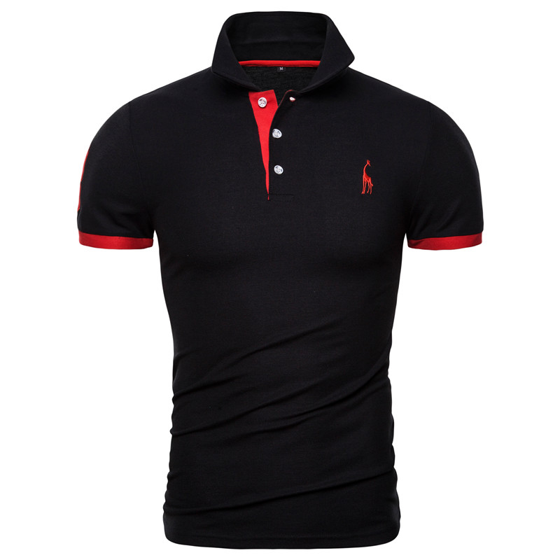Dropshipping 13 Colors Brand Quality Cotton Polos Men Embroidery Polo Giraffe Shirt Men Casual Patchwork Male Tops Clothing Men 10