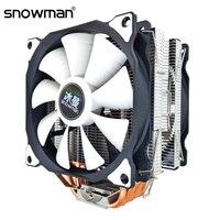 Boneco de neve cpu cooler 6 tubos de calor 120mm 4 pinos pwm para intel lga 1150 1151 1155 1366 775 amd am4 am3 am2 cpu ventilador de refrigeração pc silencioso Ventiladores e resfriadores     -