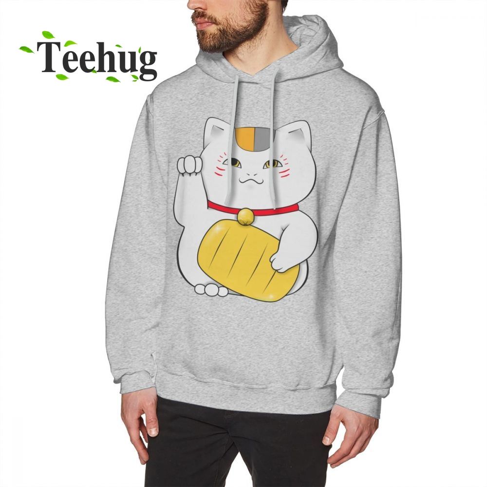 Cat Teacher Natsume Yuujinchou Long Sleeve man 3D Print Camiseta 100% Cotton hoodies