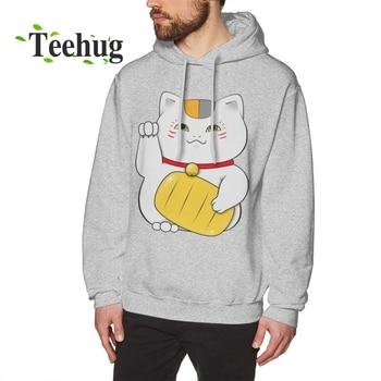 цена на Cat Teacher Natsume Yuujinchou Natsume Long Sleeve man 3D Print Camiseta 100% Cotton Cat hoodies