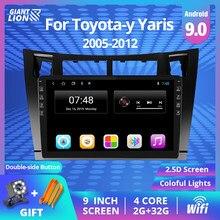 Android 9,0 автомобильное радио для Toyota-y Yaris 2005-2012 9 дюймов Автомобильный мультимедийный DVD плеер GPS навигация Bluetooth 2din Авторадио DVD