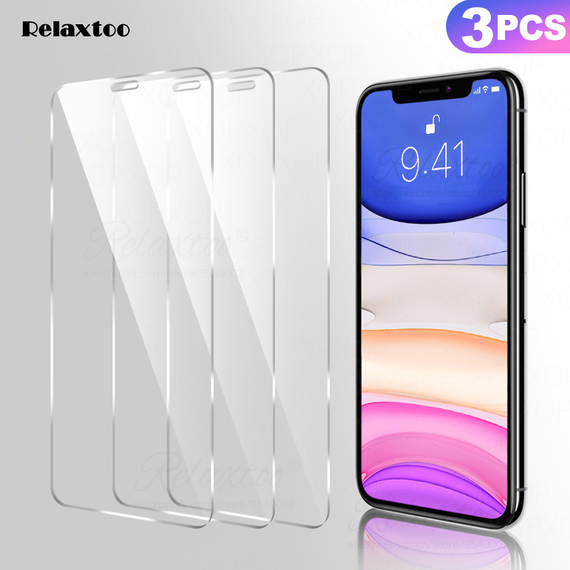 3PCS 9H Tempered Glass For Iphone 11 11pro Screen Protector On For Apple Iphone 11 Iphone11 Pro Iphone11pro Protective Film Glas
