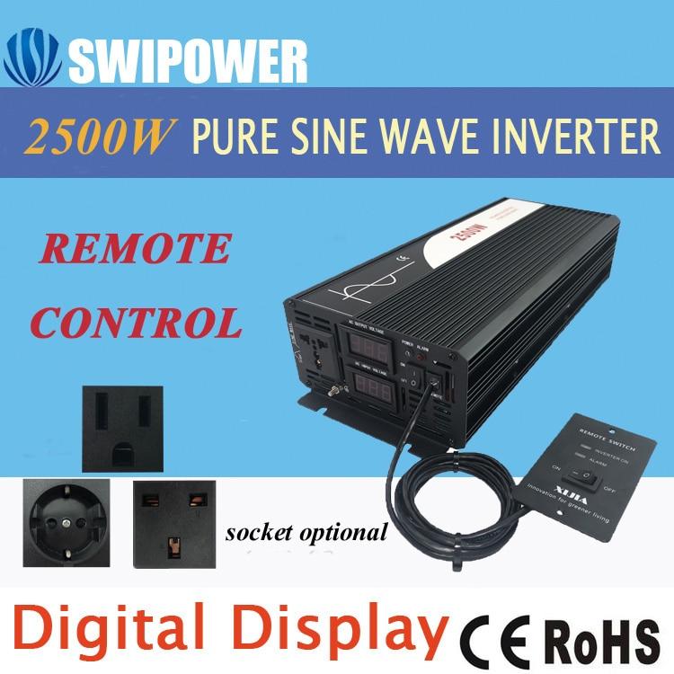 Solar-Power-Inverter Sine-Wave 110V 2500W 220V Pure 12v 24v DC AC 48V To Display Digital