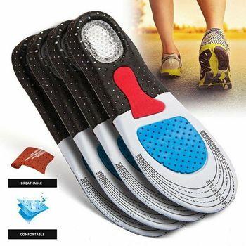 Гелевые ортопедические стельки для мужчин, 1 пара, спортивные стельки для бега, алиэкспресс в рублях бесплатная доставка