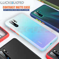 Pour Huawei P30 Pro coque contraste couleur luxe Anti Fngerprin coque antichoc pour Huawei Mate 20 Pro P30 coque 360 Silicone Edge