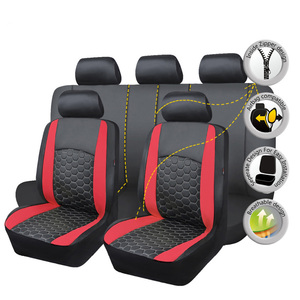 Image 4 - Delux PVC car seat covers set double laminated embroidery airbag compatible rear bench split 40/60 50/50 60/40 SUV