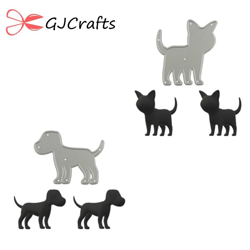 GJCrafts font b Pet b font Dog Cat Metal Cutting Dies Animal Scrapbooking New 2019 For