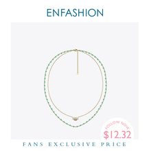 Enfashion Eye Boho Holiday Necklace Women Statement Double Chain Choker Necklaces Stainless Steel Jewelry Collar Mujer PM193005