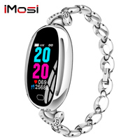 imosi E68 Smart Watch Women 0.96 Inch Heart Rate Monitor IP67 Waterproof Sport Fitness Brecelet Set with diamonds Wristband