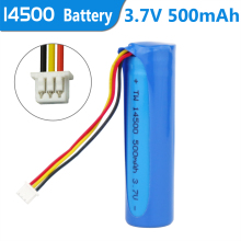 3pcs/lot 14500 500mah 3.7V lithium ion rechargeable battery with NTC three wires