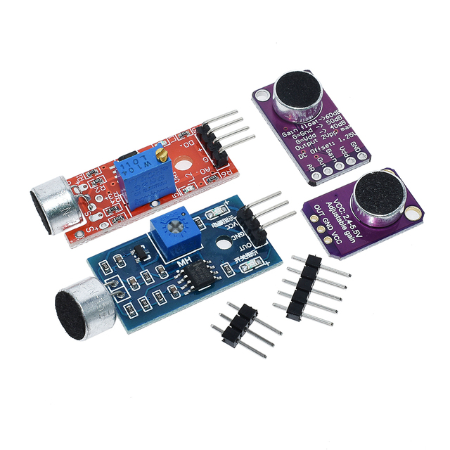 Selling Sound sensor module sound control sensor MAX4466 MAX9814switch detection whistle switch microphone amplifier For Arduino 1