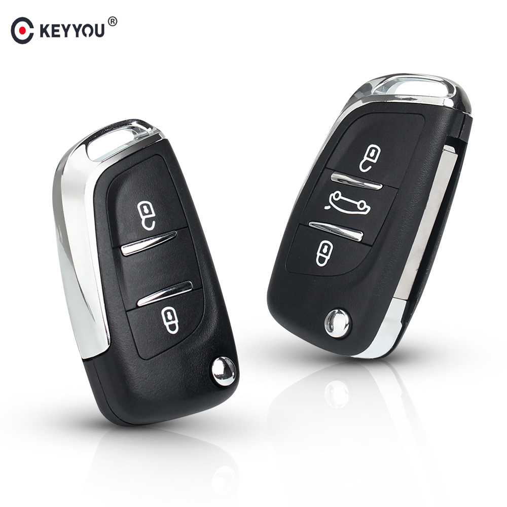 KEYYOU For Citroen <font><b>Coupe</b></font> C2 C4 Picasso C5 C6 C8 Xsara For <font><b>Peugeot</b></font> 306 <font><b>407</b></font> 807 Modified Flip Remote Car Key Shell Fob CE0523 2/3B image