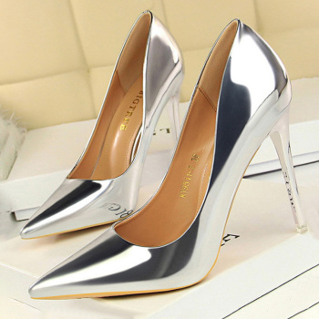 BIGTREE Shoes Woman Pumps Patent Leather High Heels Shoes Women Basic Pump Wedding Shoes Female Stiletto Women Heel Plus Size 43