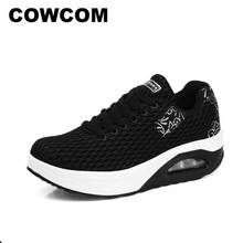 Women's Shoes Sports Fashion Spring COWCOM Big LCH-8302 Mesh Thick-Soled Leisure Breathable