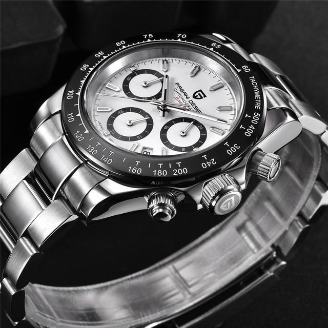 2021 New PAGANI Design Top Brand Men's Sports Quartz Watches Sapphire Stainless Steel Waterproof Chronograph Luxury Reloj Hombre 3