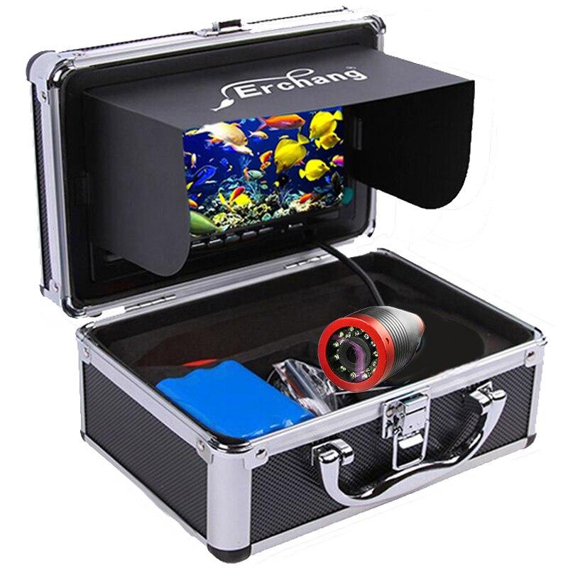 Erchang 15m 7 Zoll 1000TVL Fisch Finder Unterwasser Angeln Kamera Wasserdicht 12 stücke Infrarot Led + 12 stücke Weiß led Für EIS Angeln