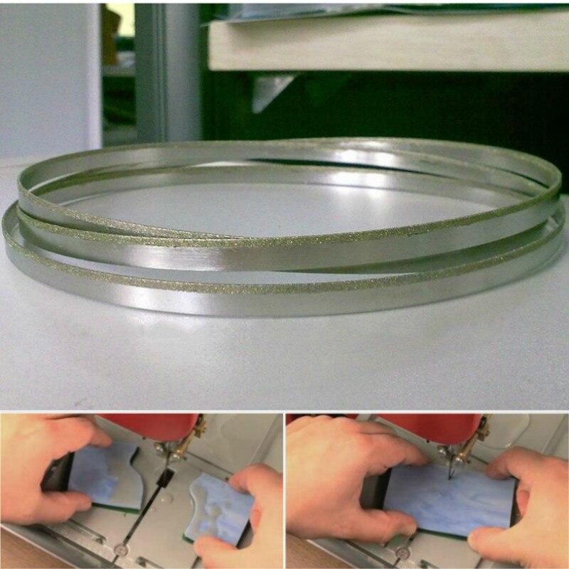 Stainless Steel Seamless Circular Diamond Band Saw Blade Bimetal Saw Blade 37-59 Inch For Cutting Graphite Glass Stone