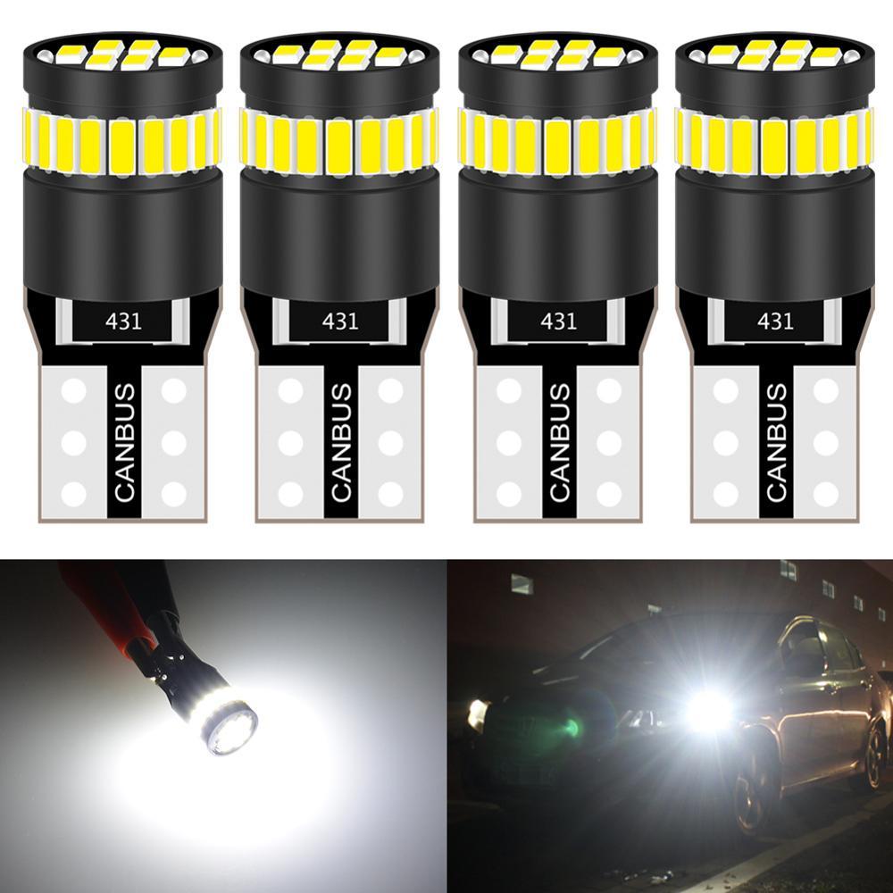 4 шт 250 люмен T10 светодиодный лампы автомобиля внутренний сигнал на приборной панели светильник CanBus НЕ OBC Error 168 175 194 921 2825 светодиодный замена ...