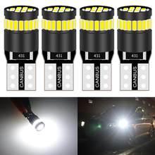 4 pçs 250 lumens t10 lâmpada led interior do carro painel de luz sinal canbus nenhum erro obc 168 175 194 921 2825 led luz de substituição