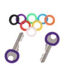 32 шт. яркие цвета полые разноцветные резиновые мягкие замки для ключей крышки для ключей Топпер брелок эластичный чехол круглый мягкий силиконовый