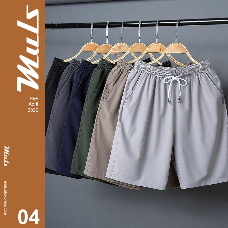 Мужские спортивные шорты размера плюс, быстросохнущие дышащие шорты с эластичной резинкой на талии, прямые шорты для пляжа, на лето, для раз...