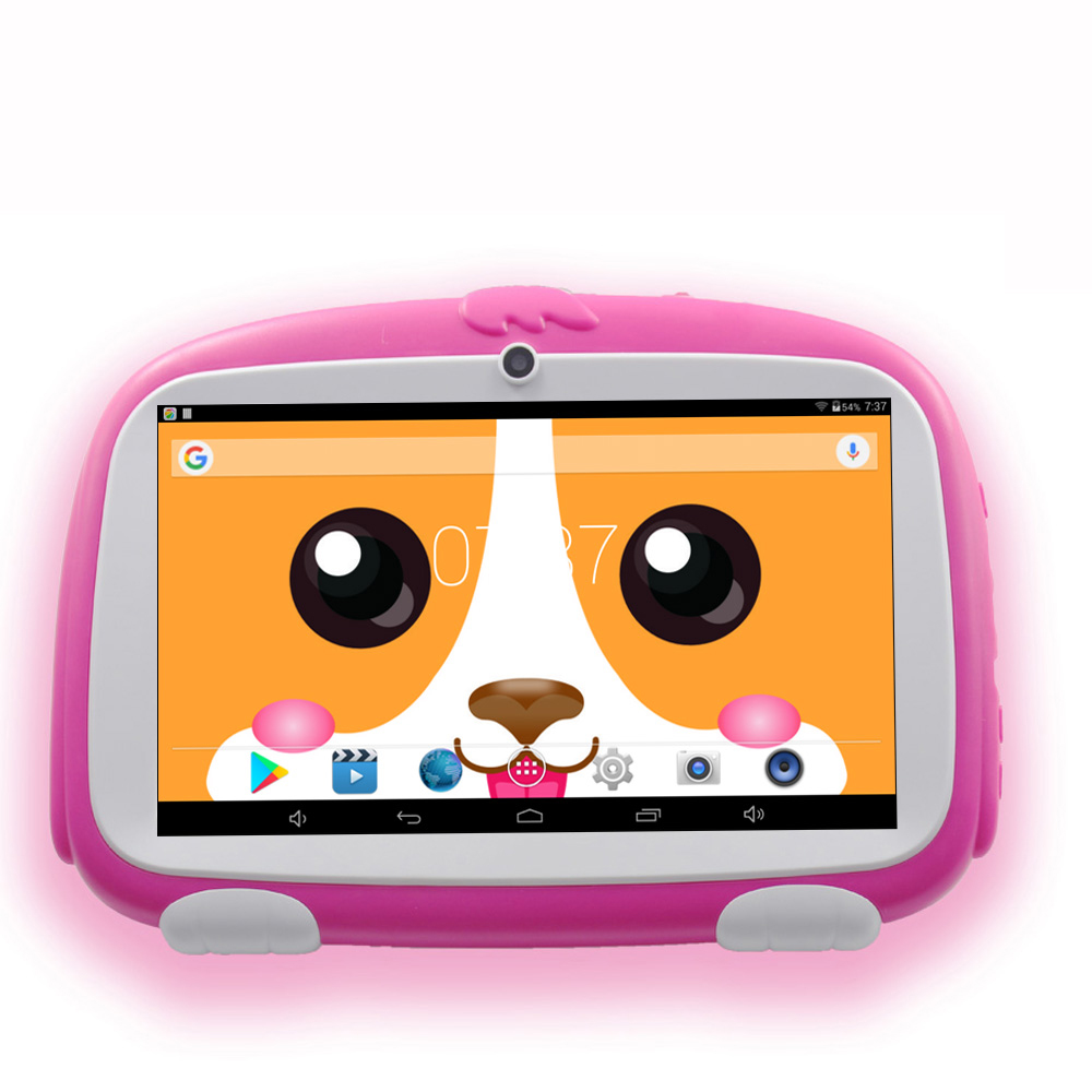 New 7 Inch Kids Learning Tablets Pc Android System Quad Core Installed Best Gifts For Children Game Tablets Pc