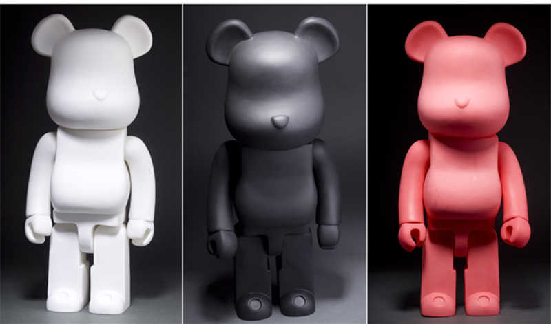 21 Inch 52 Cm 700% Bearbrick BE @ Rbrick DIY Fashion Mainan PVC Action Figure Collectible Model Toy Dekorasi Natal hadiah Nikmat