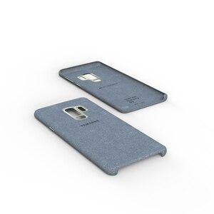 Image 4 - Новинка 100%, Оригинальный чехол из натуральной кожи для Samsung Galaxy S9, S9 plus, S9 +, алькантара, Роскошный чехол премиум класса, искусственная кожа
