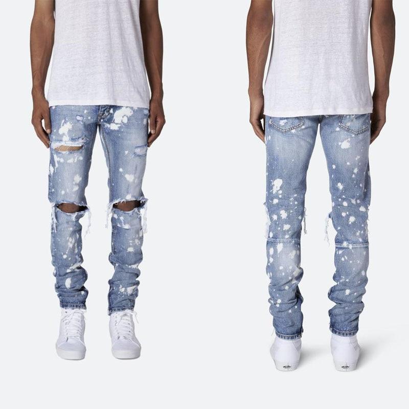 Men Jeans Pants Denim 2020 Pantalones Jeans De Men Designer Jeans Men High Quality Hole Design Small Feet Mens Trousers Jeans