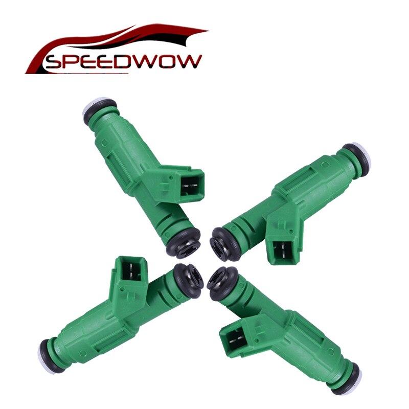 SPEEDWOW 4Psc 440 Cc حاقن وقود معاوقة عالية اجزاء الفلترات الخارجية 42lb 12 أوم حقن الوقود صمام قطع غيار السيارات