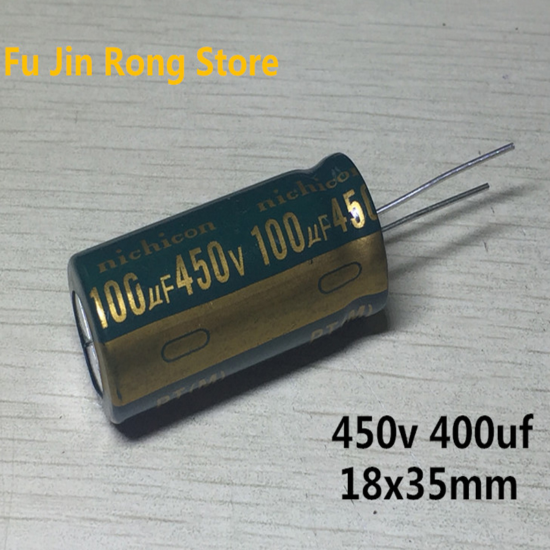 Original 5pcs 450v 100uf High Frequency Liquid Crystal Power Supply High Temperature Electrolytic Capacitor 18X35mm 100uf 450v