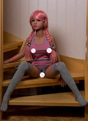 140 センチメートルセックス人形赤髪美容アジア少女の愛の人形オーラルセックス肛門膣人形大人のセックスおもちゃの愛の人形
