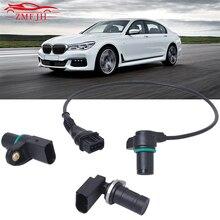 12147539165 12147518628 12141709616 3pcs/Set Car Intake Exhaust Cam Camshaft Crankshaft Position Sensor With O-R For BMW